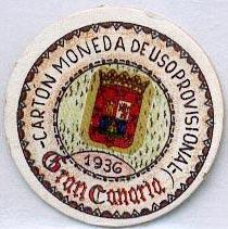 Ejemplo de sello moneda de Gran Canaria